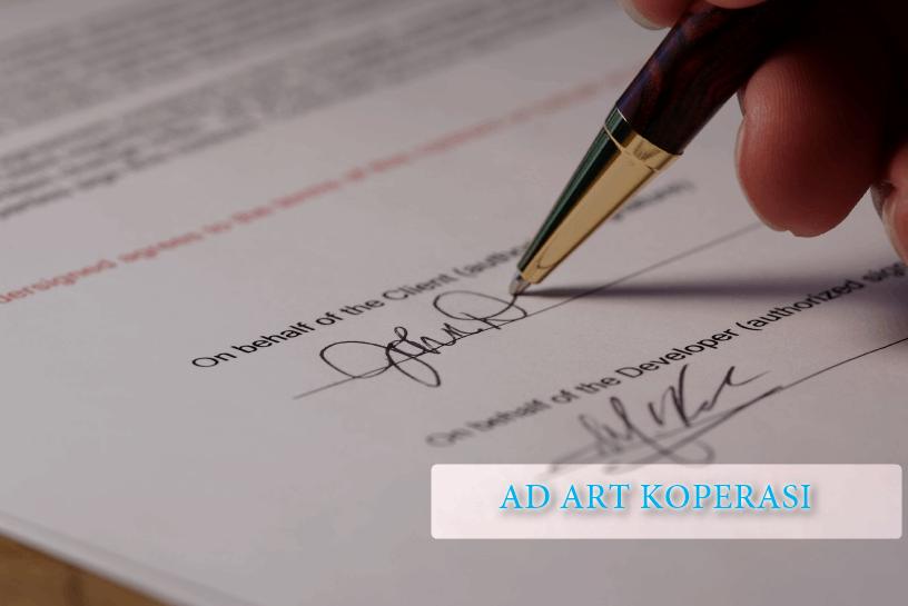 Contoh Ad Art Koperasi Indonesia Lengkap Koperasi Net